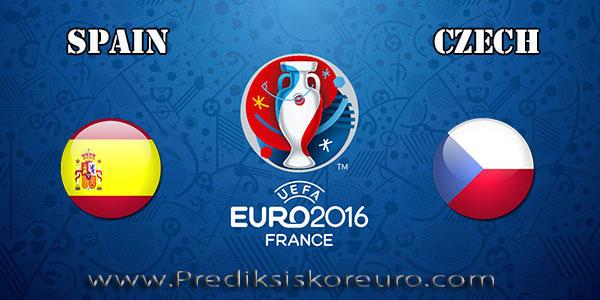 Prediksi skor Spanyol vs Ceko Euro 13 Juni 2016